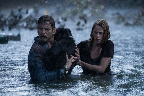 barry pepper y kaya scodelario en crawl