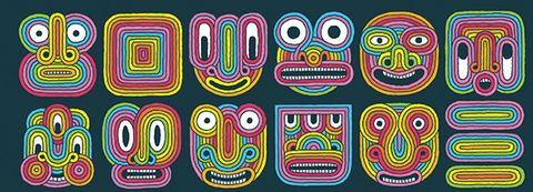 Text, Font, Pattern, Visual arts, Psychedelic art, Design, Line, Art, Illustration, Graphic design,