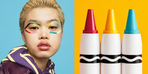crayola beauty asos have launched actual crayola crayons for your face