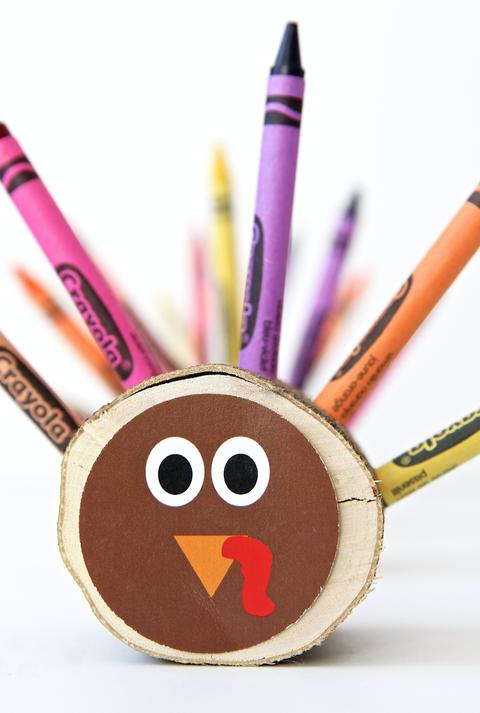 crayon turkeys for thanksgiving