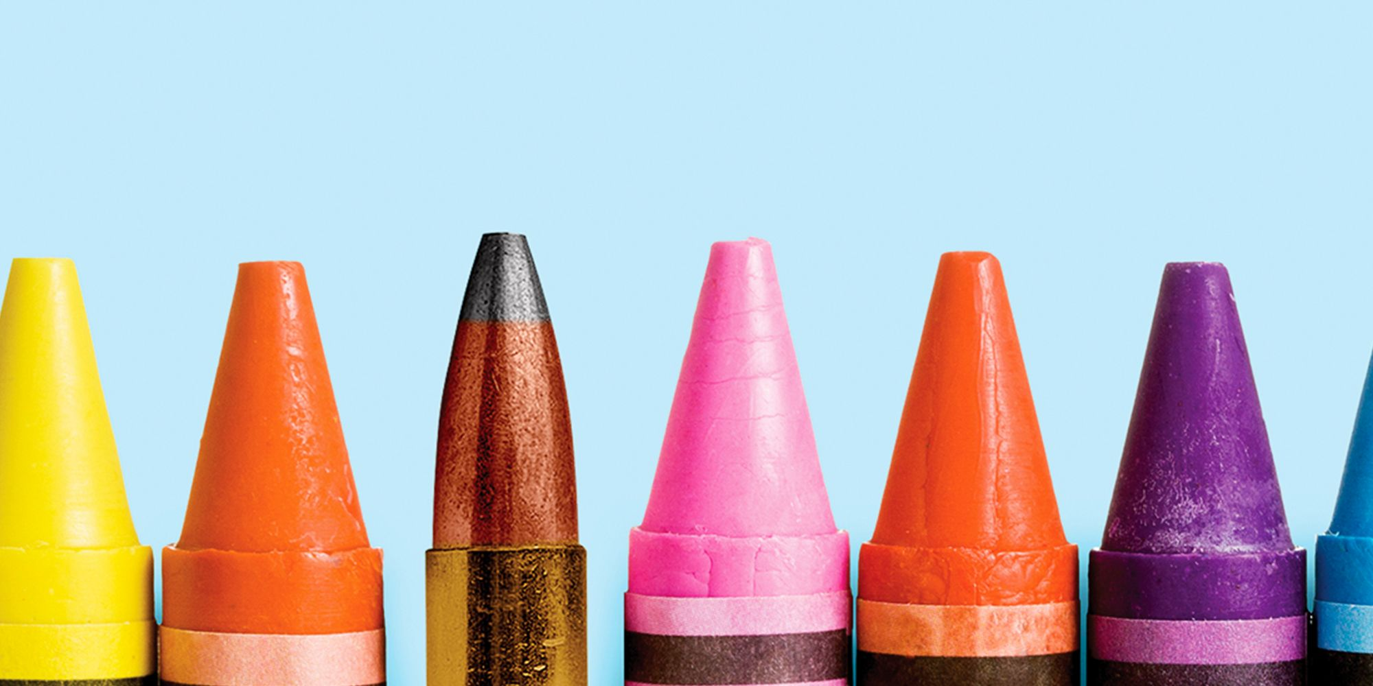 crayons and bullet
