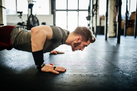 Press up, Strength training, Physical fitness, Arm, Shoulder, Fitness professional, Leg, Joint, Plank, Muscle,