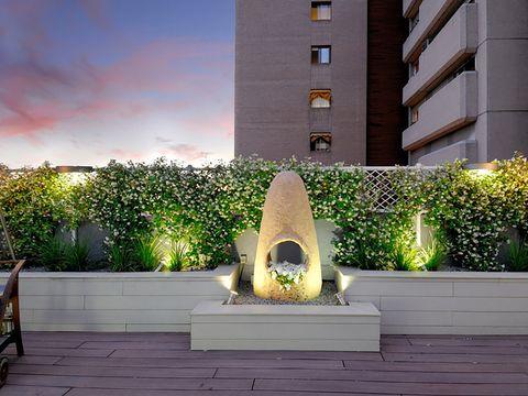 crear ambiente por la noche en la terraza