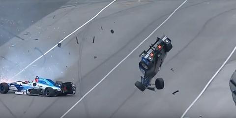 2017 Indy 500 Crash Scott Dixon