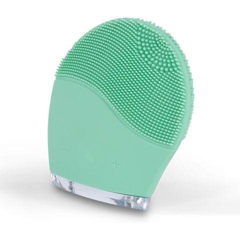 create ikohs elektrische gezichtsreinigingsborstel gezichtsborstel groen silicoon