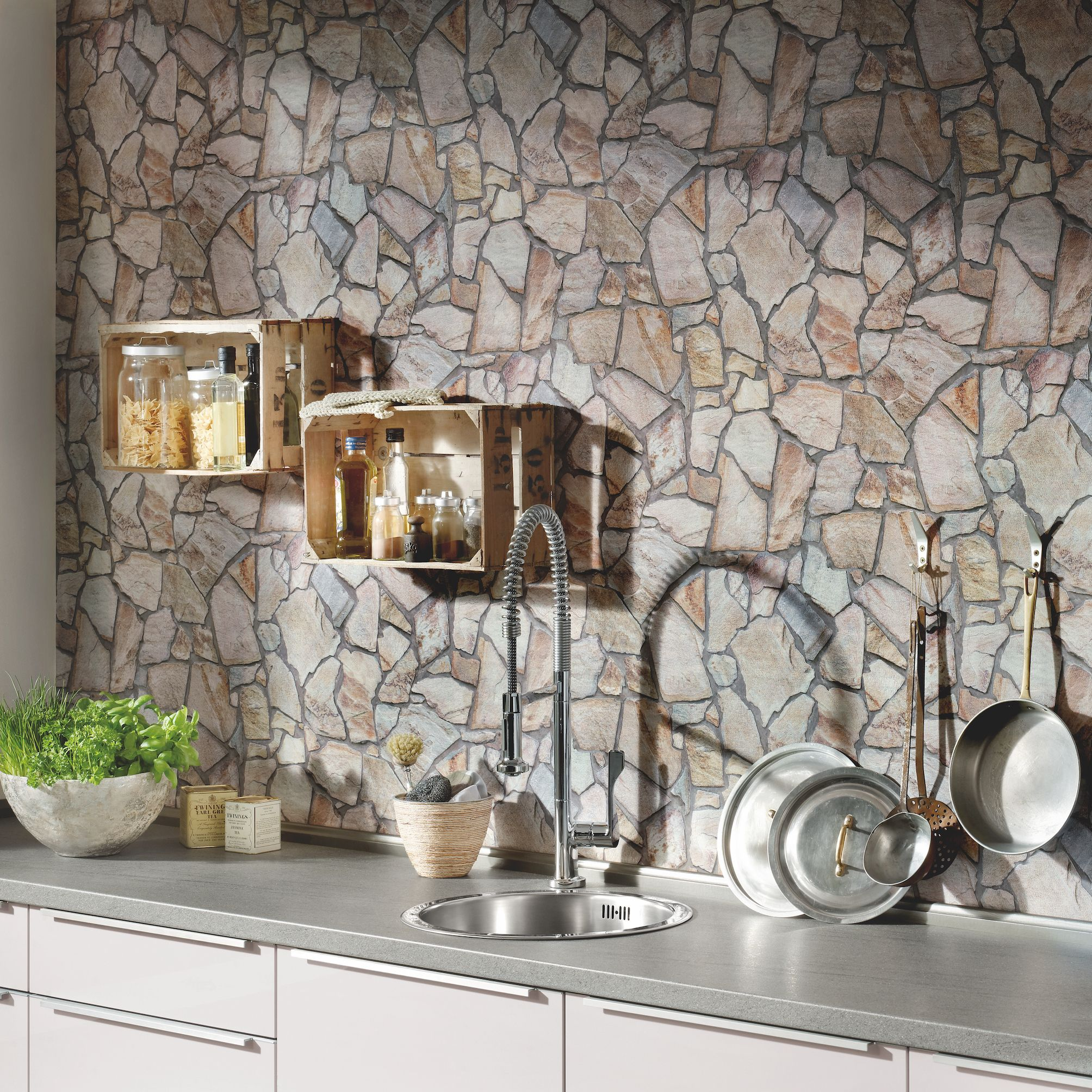 Attrayant AS Creation Wood N Stone Rural Cottage Wallpaper   £15.99 Per Roll