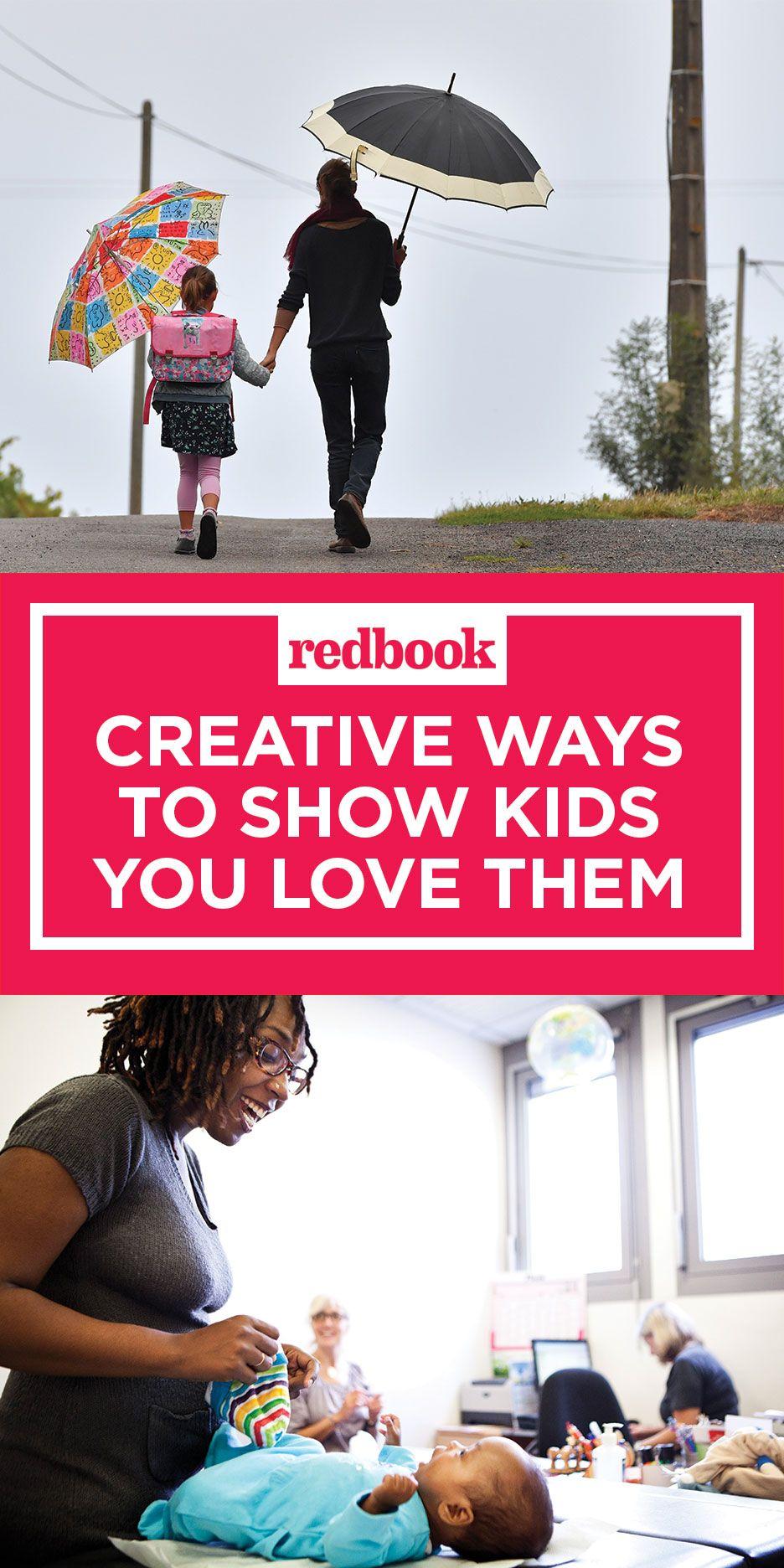 creative ways to show kids you love them