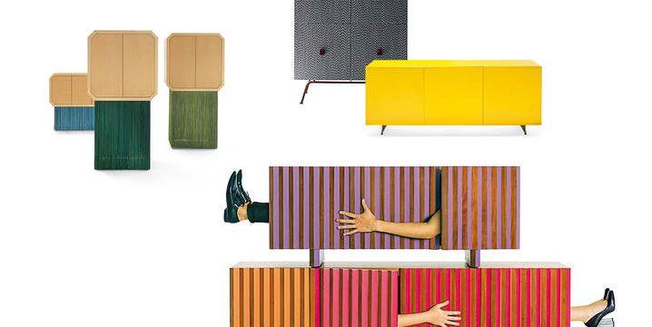 Credenza Moderna Noce Canaletto : Credenze moderne colorate la tendenza per larredo 2017