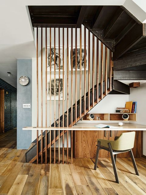 Home office under the stairs, smart space