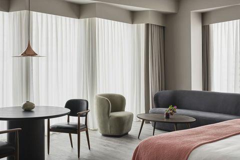 Bedroom Suite Interior at The Stratford hotel at Manhattan Loft Gardens