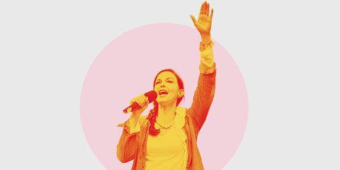 Orange, Yellow, Performance, Finger, Gesture, Fun, Hand, Peach, Sign language, Illustration,