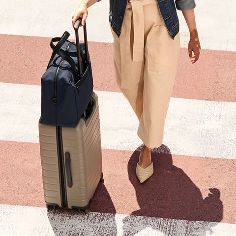 Away luggage - Carry-On with leather pocket