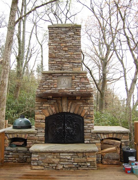 25 Diy Outdoor Fireplaces Fire Pit, Outdoor Fireplace Plans Free