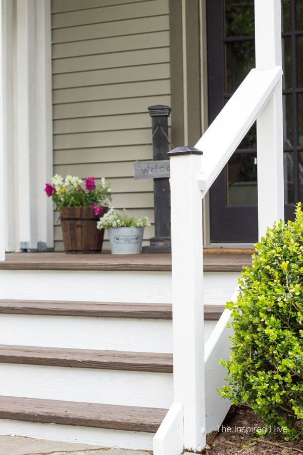 20 Diy Front Step Ideas Creative, Wooden Handrails For Outdoor Steps Uk