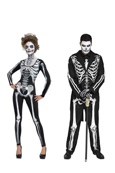 scary couples costumes skeleton