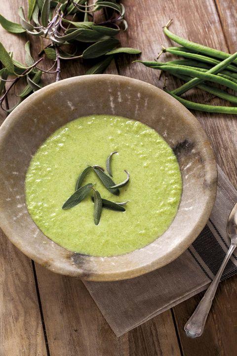 Crema de judías verdes con yogur