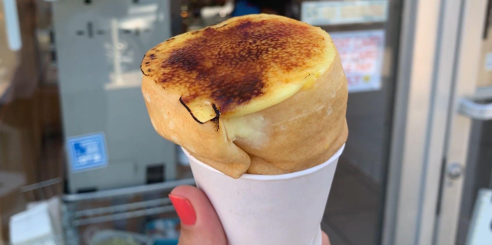 These Crème Brûlée Cones Let You Eat The Fancy Dessert On The Go