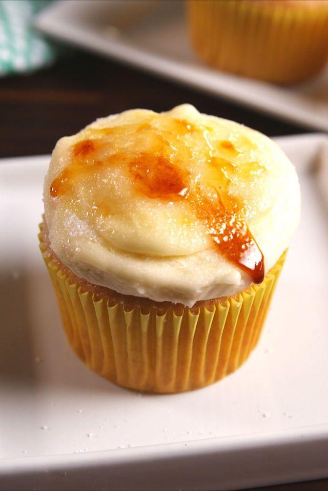 creme brulee cupcakes - christmas cupcakes recipe
