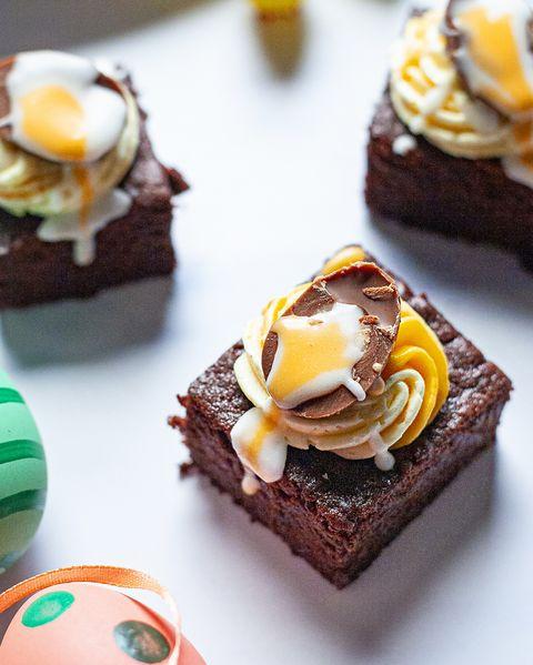 easter chocolate cake recipes crème egg traybake