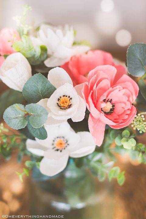 crepe paper wildflower centerpiece diy wedding centerpieces