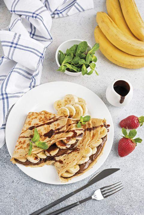 crepes de nutella y plátano