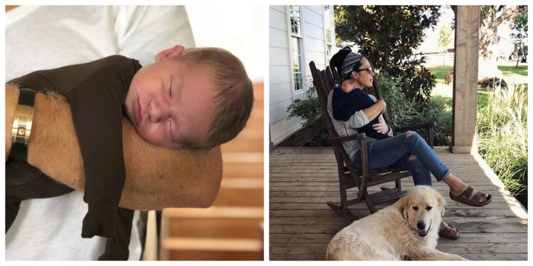 11 adorable pictures of chip and joanna gaines 39 s new baby. Black Bedroom Furniture Sets. Home Design Ideas