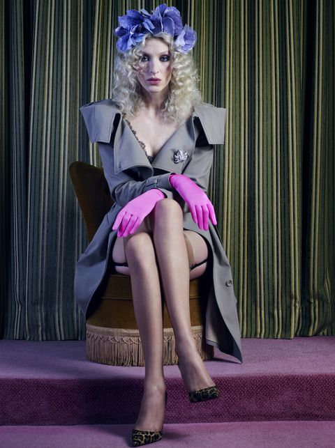Clothing, Purple, Fashion, Pink, Leg, Fashion design, Costume, Haute couture, Dress, Model,