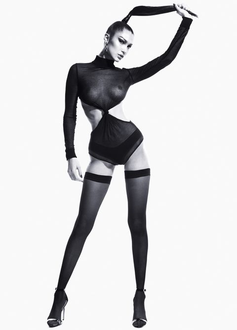 Clothing, Stocking, Leg, Tights, Beauty, Pantyhose, Standing, Black-and-white, Thigh, Fetish model,