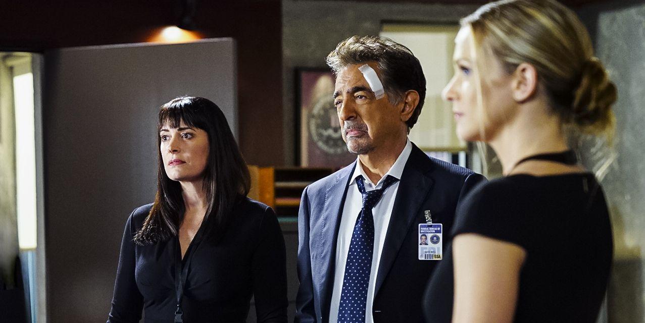 Paget Brewster (Emily Prentiss), Joe Mantegna (David Rossi), A.J. Cook (Jennifer Jareau)