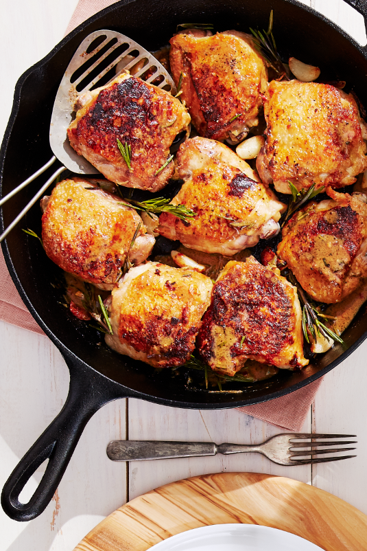 best crispy chicken thighs garlic rosemary