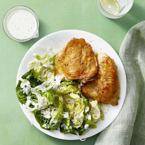 Crispy Chicken Thighs with Buttermilk Fennel Salad