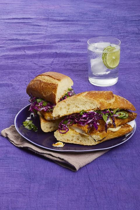 Crispy Fish Sandwiches with Honey-Lime Slaw 30-Minute Meal