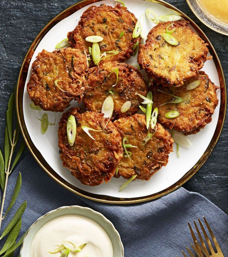 crispy ginger scallion potato pancakes - latke recipes