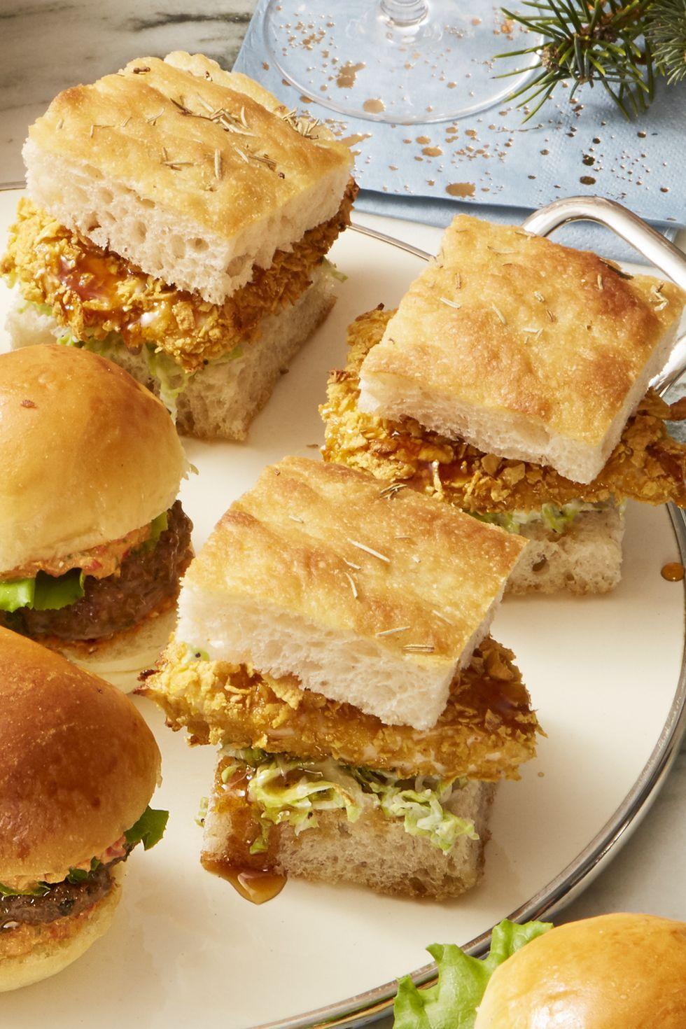 Crispy Hot-Honey Chicken Sliders