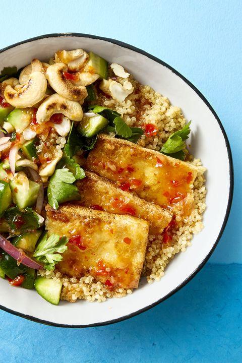 crispy tofu bowl   tofu recipes