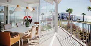 Piso con terraza: acristalamientos