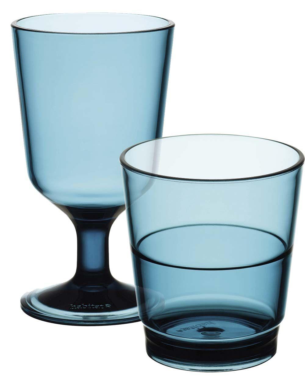 Cristalería azul