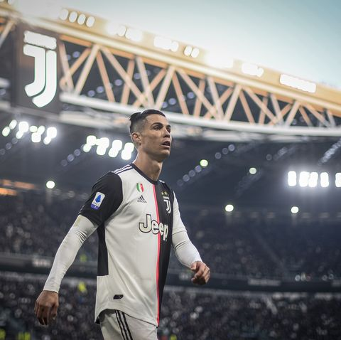 Cristiano Ronaldo of Juventus FC looks on during the Serie A...