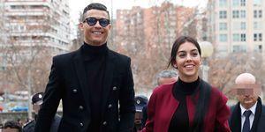 Cristiano Ronaldo y Georgina Rodríguez llegan a la Audiencia Provincial de Madrid