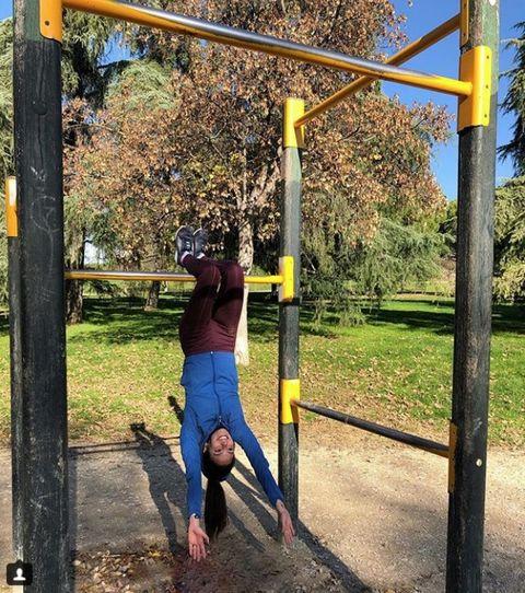 Public space, Tree, Yellow, Iron, Playground, Leaf, Fun, Recreation, Plant, Jeans,
