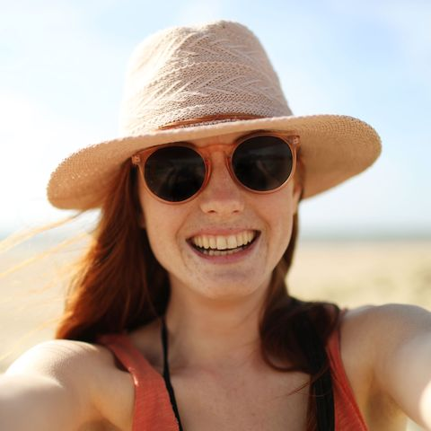 Eyewear, Sunglasses, Hair, White, Face, Hat, Facial expression, Cool, Glasses, Clothing,