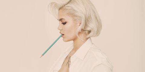 Lip, Mouth, Hairstyle, Wrist, Organ, Eyelash, Art, Blond, Portrait, Painting,