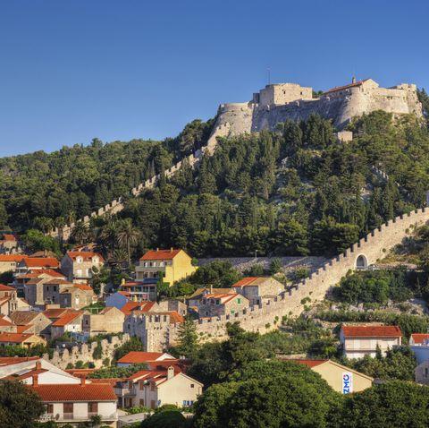 croatia, hvar island, hvar castle