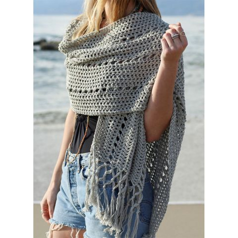 Sunset Beach Wrap Crochet Kit