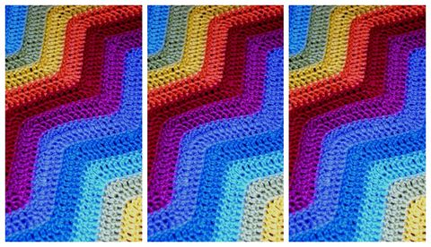 How To Crochet A Baby Blanket In The Colours Of The Rainbow