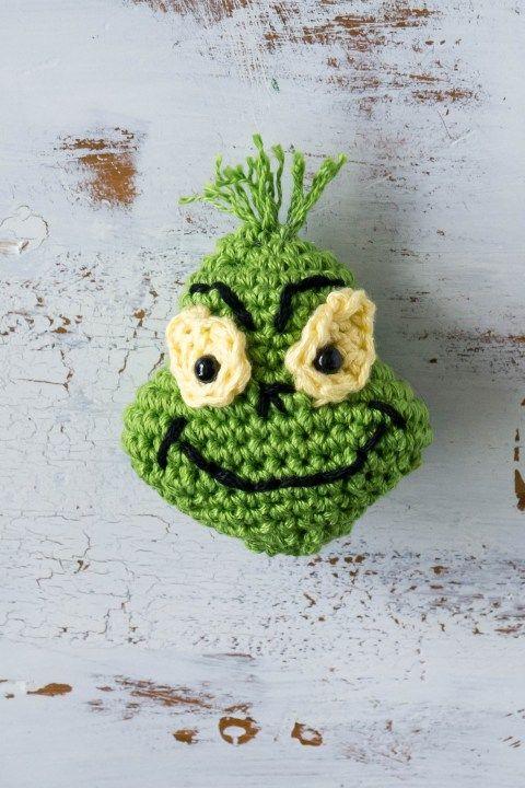 crochet christmas ornaments grinch
