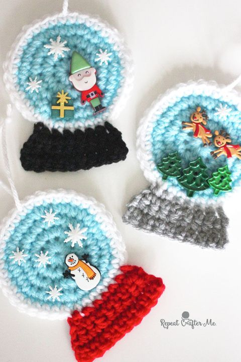 15 Easy Crochet Christmas Ornaments Diy Crochet Ornament Patterns