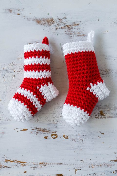 crochet christmas ornaments stockings
