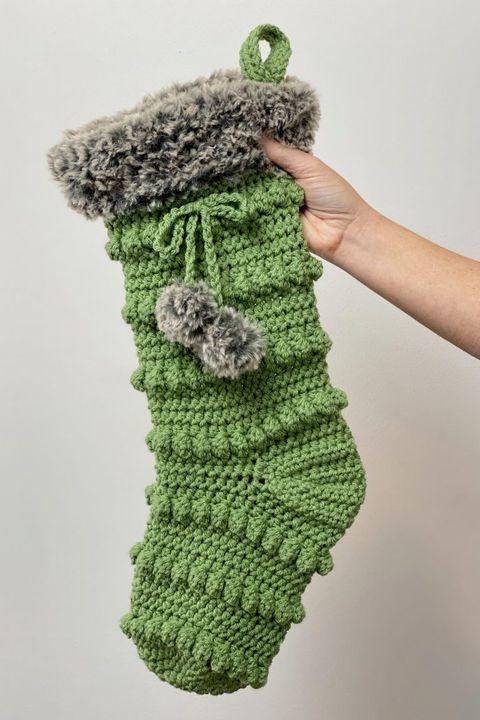 crochet christmas stocking boho