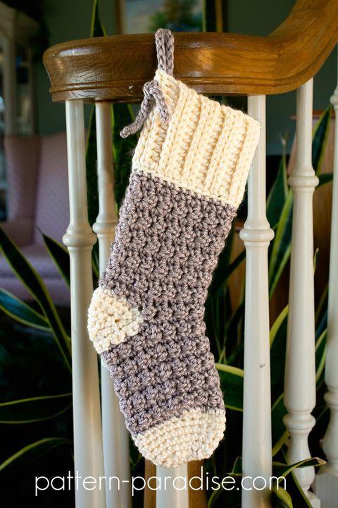 crochet christmas stocking cottage